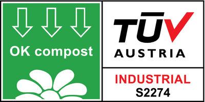 ADBioplastics - Sello de compostabilidad por la TÜV Austria