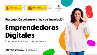 Nueva línea de financiación ENISA Emprendedoras Digitales