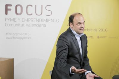 José Carlos Díez en el set de entrevistas de Focus Pyme y Emprendimiento