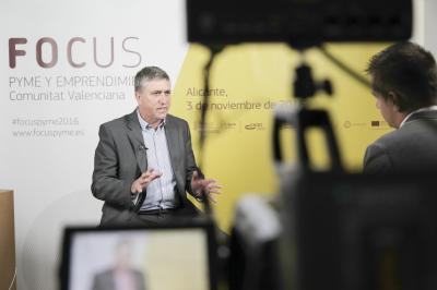 Rafael Climent en el set de entrevistas de Focus Pyme y Emprendimiento