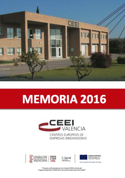 Memoria CEEI Valencia 2016[;;;][;;;]