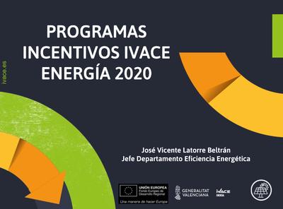 Programa de Incentivos Ivace  Energía 2020