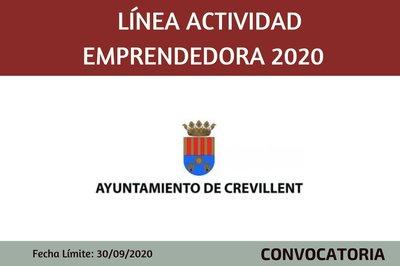 Línea actividad emprendedora 2020