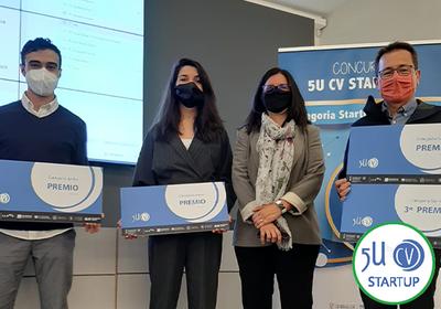 Premiados en el concurso 5UCV Startup