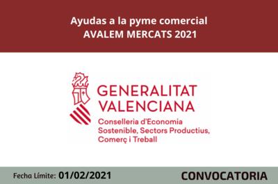 Ayudas a las pymes comerciales AVALEM MERCATS 2021