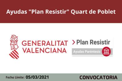 """Ayudas """"Plan Resistir"""" en Quart de Poblet"""