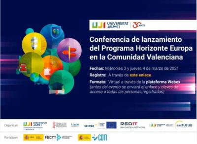Conferencia de lanzamiento Horizonte Europa en la Comunitat Valenciana