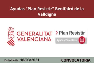 """Ayudas """"Plan Resistir"""" en Benifairó de la Valldigna"""