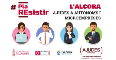 """Convocatoria Ayudas Paréntesis """"Plan Resistir"""" en L'Alcora"""