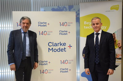 Farrokh Keneshkar, Director General Corporativo de ClarkeModet, y Óscar Abril, Head Sector Público en Europa de everis