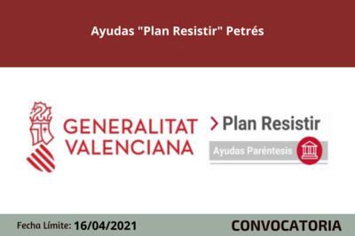 """Ayudas """"Plan Resistir"""" Petrés"""