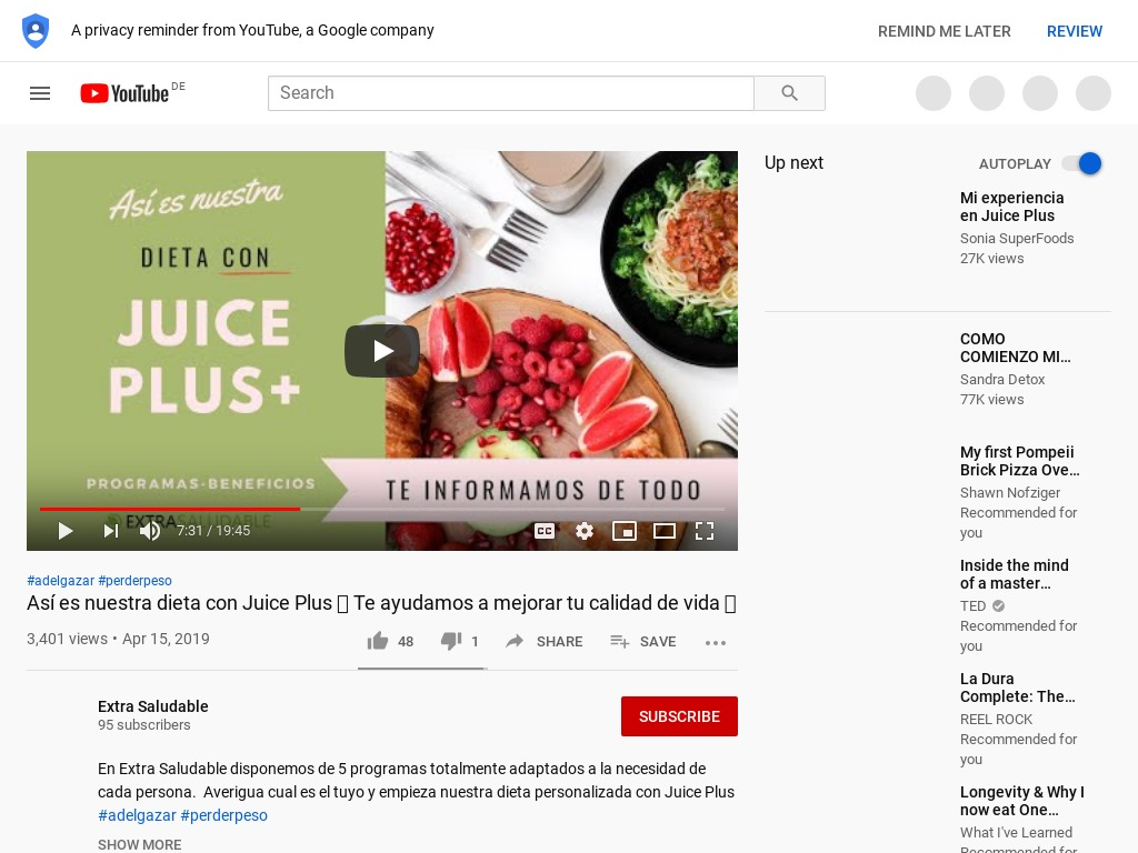 Dieta personalizada con Juice Plus - YouTube